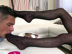 DDF Network offers you one another exciting foot fetish sex video. Horny guy sucks tootsies of one appetizing girl with a great delight.
