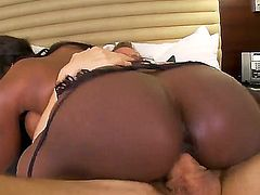 Fucking huge white cock on the bed feels so goodess