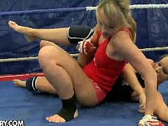 See the perverse blonde sluts Debbie White and Blue Angel as they enjoy a wild lesbian wrestle match. It doesn't take them long to munch and finger their pussies into ecstasy.