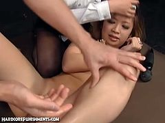 Hairy asian teen punished