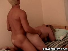 A lovely and busty amateur mature housewife getting nailed in many different positions by her lover ! Very hot slut in this awesome action ! Enjoy...