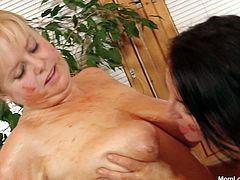 Disgusting fat sluts Klaudie and Majda gets messy with ketchup in naughty lesbian action