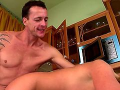 Zorah White is a hot blonde who gets her pussy and anus drilled inside the kitchen. Her man havent had sex in a while with her so he decided to show her how he used to fuck her.