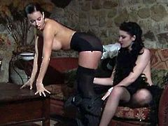 Watch hot lesbian action with two brunette babes Cindy dollar and Belicia, At firsts they start a hot foreplay stroking each other's tits and eating each other's pussies. Later one of them uses her fingers for fucking another's hole.Enjoy!