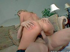 Blonde Brianna Love is a sexy bodied slut that loves to fuck. Gorgeous babe with killer ass gets her pink wet pussy attacked by dudes love torpedo from behind. Watch Brianna Love get shagged.