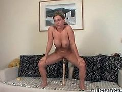 21 Sextury backstage sex clip is worth checking out. Spoiled brunette is at home. She's got several dildos and drill her wet cunt in different positions for orgasm.