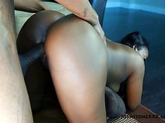 Aryana Starr is a hot black woman with massive bubble butt. She loves big cock and takes black one. Watch big booty chocolate slut Aryana Starr enjoy heavy cock.