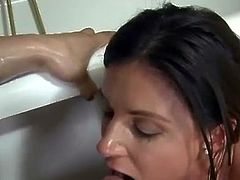Thin old nymph India Summer 3some making love
