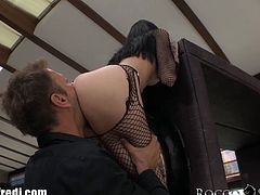 Lucky Rocco Siffredi is having a hardcore fun with two euro anal whores! Watch him sticking his super big cock deep inside their tight holes!