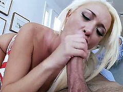 Summer Brielle is in love with my hard cock and she loves to suck it every fucking day