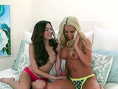 Cassie Laine and her GF in anticipation of fuck
