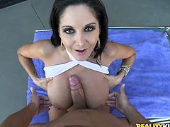 Her name is Ava Addams and that name must be familiar to you! Babe is a hot one and she is going to show you some passion she got in her pussy and in her mouth!