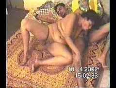 Indian whore wife Anusha gives her husband blowjob
