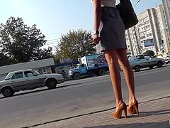 Horny voyeur feels amazing when filming sexy upskirt videos in public