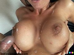Melissa Lauren feels large dick deep pounding her vag in stunning hardcore session