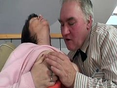 Old fart Richie and his grandma Ivana are up to no good again. Watch them as Richie begins to lick his granny's boobs and then how nicely the sweet old lady repays him with a dirty cock sucking. Yeah she loves to have dick inside her mouth, maybe she will like it in her cunt too. Find out and enjoy it.