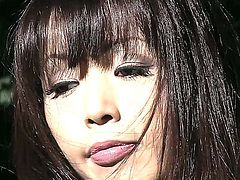 Attractive Asian dolly Marica Hase enjoys being bound tight. Her kinky master takes her to a forest to subdue her and teach her how to be tame while being tied.