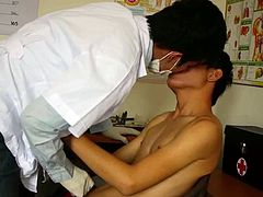 Horny doctor has his cock sucked
