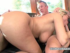 Busty blonde MILF Devon Lee enjoys some really hardcore pounding by her man. He nails that pussy nice and shots his load inside!