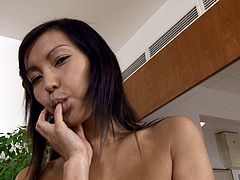 She just lick her fingers, after having fingered her wet beaver. Mae is an Asian lust that hos natural tits and some natural sexual hunger!