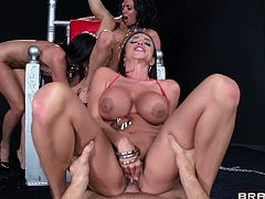 Hotties are having the best time fucking their twats in amazing group sex RPG scene
