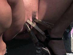 Public humiliation going down in this kinky bondage video packed with lust and fucking perversion, hit play and check it out!