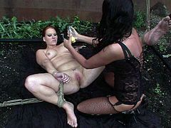 Ample fresh faced amateur gets her pussy drilled with dildo before she welcomes face sitting from insatiable brunette domina. She lies underneath fisting her gaped vagina in sizzling hot lesbian sex video by 21 Sextury.