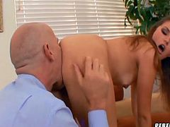 Superb hottie feels amazing with a large dick smashing her holes during hardcore action