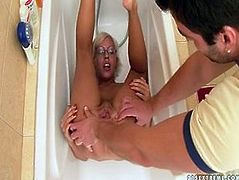 Dirty wench Daniella is fisting her cunt in the beginning of the porn clip. Then she goes in the bathroom where she performs piss drinking scene.