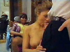 Naughty Indian chick likes extreme sex and seduces groom soon after wedding ceremony. She sucks his dick greedily and takes load of cum on her chin.