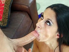 Nikki Daniels feels amazing having a huge dick stroking her mouth during top oral