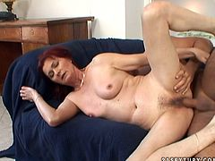 Well, this bitchie redhead is just ugly. Her hair is uncombed, her face is disgusting as well as her pale tits. But booty slut can still make you jizz. How? This whore is a great pro in riding a strong dick for orgasm. Check out pallid cowgirl in 21 Sextury xxx clip and you'll jizz at once.