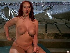 There's spanking, toying, some torture too and wild bondage action in this lesbian femdom video for Kelly Divine.