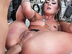 Horny floozy Sheena Shaw receives Covers long hard dick deep inside her sweet pussy and ass