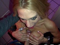 Hot Sarah Jessie looks amazing with a big cock sliding her fine lips in POV