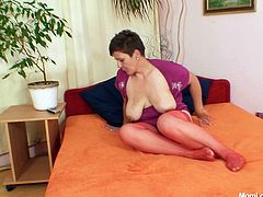 Don't skip this extremely hot Czech whore who explores her ugly stretched pussy in doggy style. She likes it hotter and fucks her muff intensively.