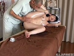 This guy knows her to seduce sexy chicks and he starts rubbing this babe, getting closer on her wet pussy. Now she is riding his cock, having blown him!