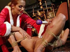Tempting dominatrix gives her slave every kind of kinky torture