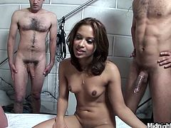 Delicious babe Gaya Patel gets fucked by two horny studs