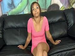 Ebony Prostitute Swallows White Rod
