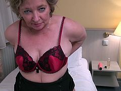 she takes off her clothes revealing a sexy body that asks fort cock and semen. the European mature has quite an attitude and she knows what she wants. Check her out as she tries to make us horny and earn our attention
