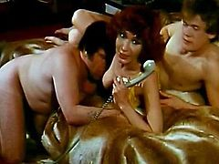 Horny babes enjoying huge cocks down their twats in superb vintage porn sessions