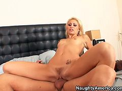 Alex seduces his sister's best friend for sex. So blond bombshell gets on hard shaft riding actively in reverse cowgirl position. Stunning girl Monique is incredible good in sex. Check out if this is true.