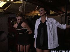 When her slave misbehaves cruel mistress binds her in ropes and fulfills her sex fantasies of all aspects. Make sure you don't miss this hot BDSM sex scene.