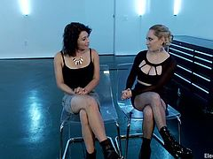 To the toying and torture she's getting, Aiden Starr will give Raven Rockette a face sitting to complete the lesbian domination.