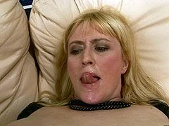 This dude knows how to make this slut's pussy get really tight! He drills her juicy pussy with different sex toys making her moan with pleasure. Then he slips his fingers inside her snatch and starts pumping them in and out.