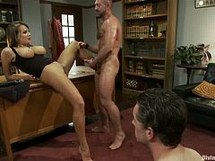 Cuckold Guy Gets Strapon Fucked by Nika Noire Before She Has Sex with Another