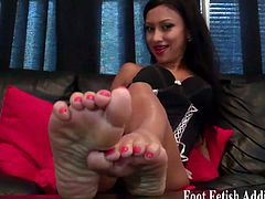 Exquisite mistresses make you worship their feet