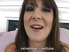 Velvet Magazine threatening-fearsome Lexi Bardot taking a huge weenie up her wazoo