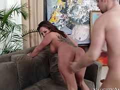 Naughty America presented arousing porn video with these professional porn performer having huge experience in adult industry. Tory Lane is riding hard cock of Seth Gamble frantically. Then she gets rammed bad doggy style. Steamy sex video on Anysex.com for free.
